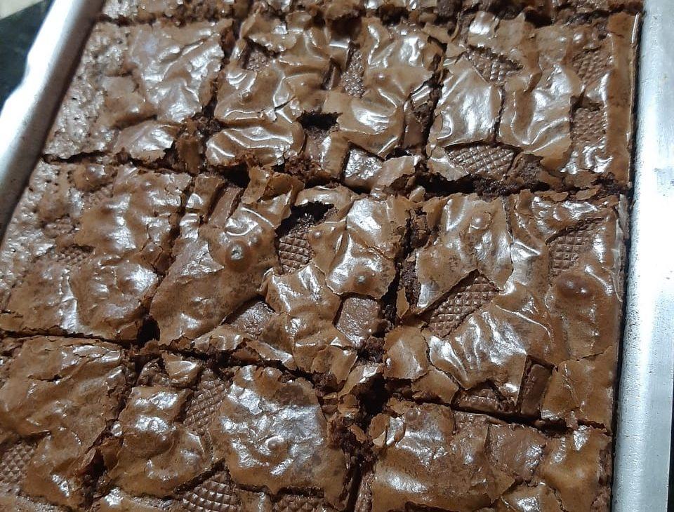 Brownie Simples Cortado